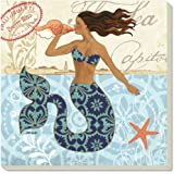 CounterArt Mermaid with Shell Absorbent Coasters (Set of 4)