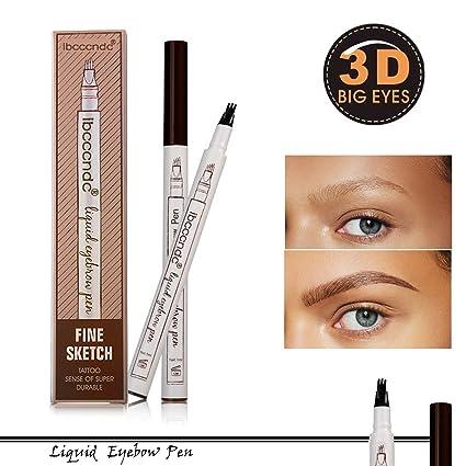 Natural Tattoo Eyebrow Pen Waterproof Colores para cejas Brow Gel ...