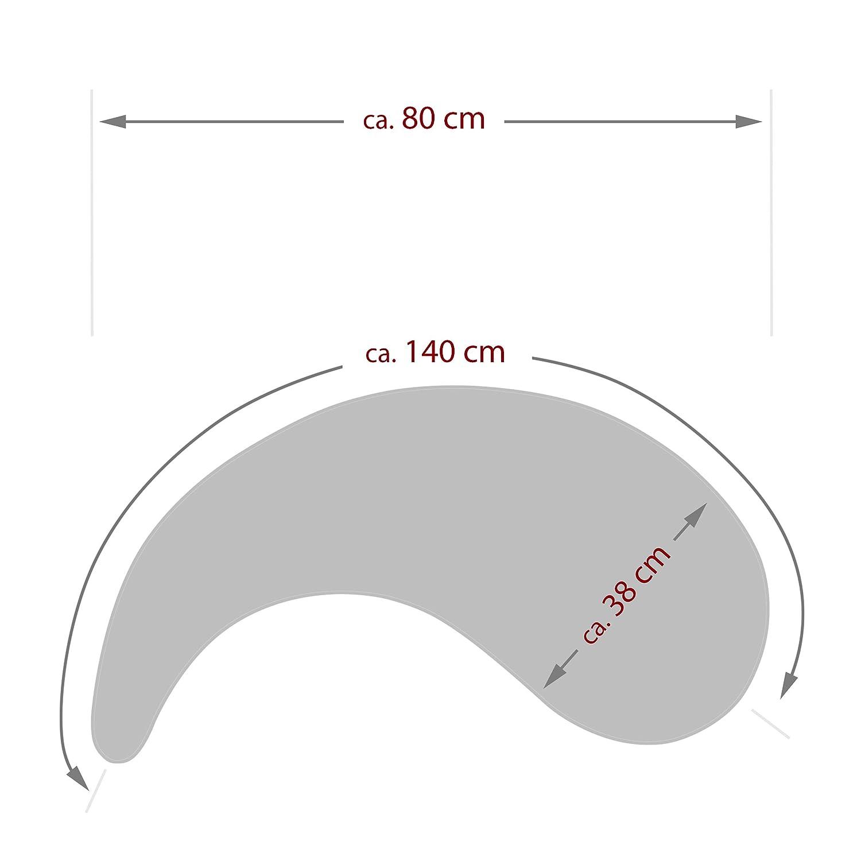 Amilian Bezug f/ür Stillkissen 140cm Bezug 100/% Baumwolle mit Rei/ßverschluss Zebra Blau