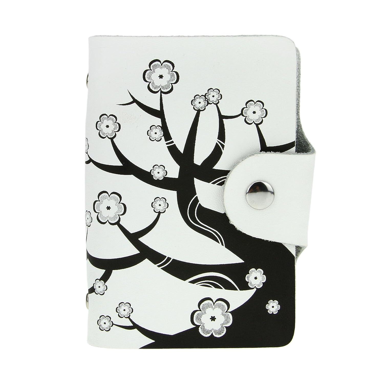 レザーカードホルダービジネスクレジット名前カードケース財布ウォレット26カードスロット  ホワイト2 B01LEN32ZG