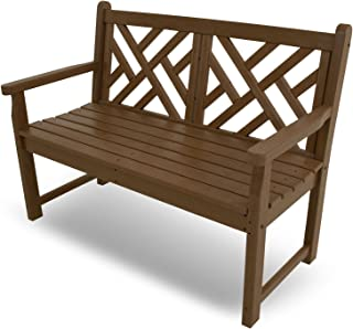 "product image for POLYWOOD CDB48TE Chippendale 48"" Bench, Teak"