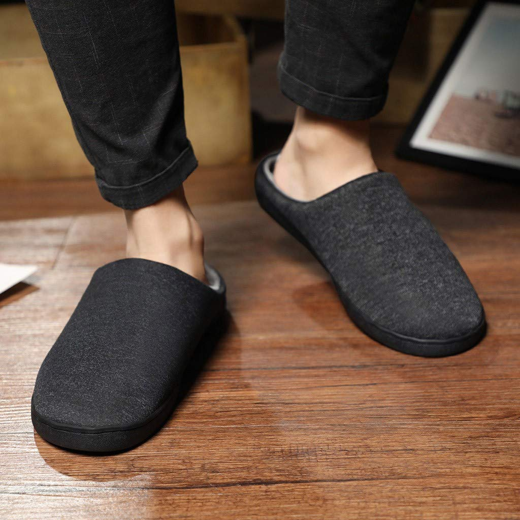 Men's and Women's Comfort Quilted Memory Foam Fleece Lining House Slippers Slip On Clog House Shoes,SUNSEE 2019 by MEN SHOES BIG PROMOTION-SUNSEE (Image #8)