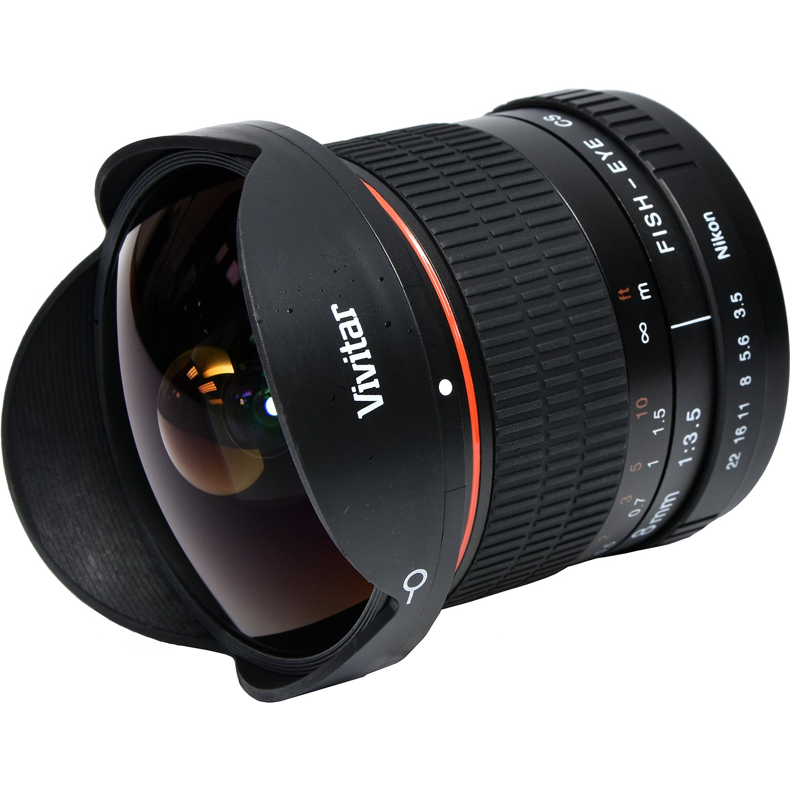 Vivitar 8mm f/3.5 Fisheye Lens with Flash + Soft Box + Cleaning Kit for Nikon Digital SLR Cameras by Vivitar (Image #2)