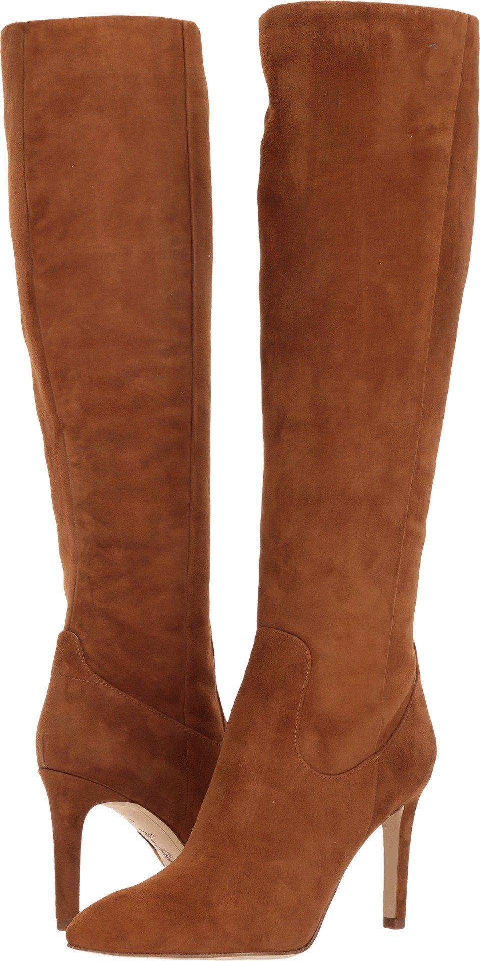 Sam Edelman Women's Olencia Knee High Boot, Luggage Suede, 9 Medium US