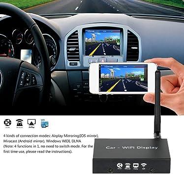 Kingcenton Coches WIFI Mirabox Display Duplicación de AirPlay/Miracast, AllShare Emitir, Pantalla de Reflejo /DLNA para Android, IOS Dispositivos Inteligentes Móviles Tabletas de Autos y Hogar de Doble Uso (P780): Amazon.es: Electrónica
