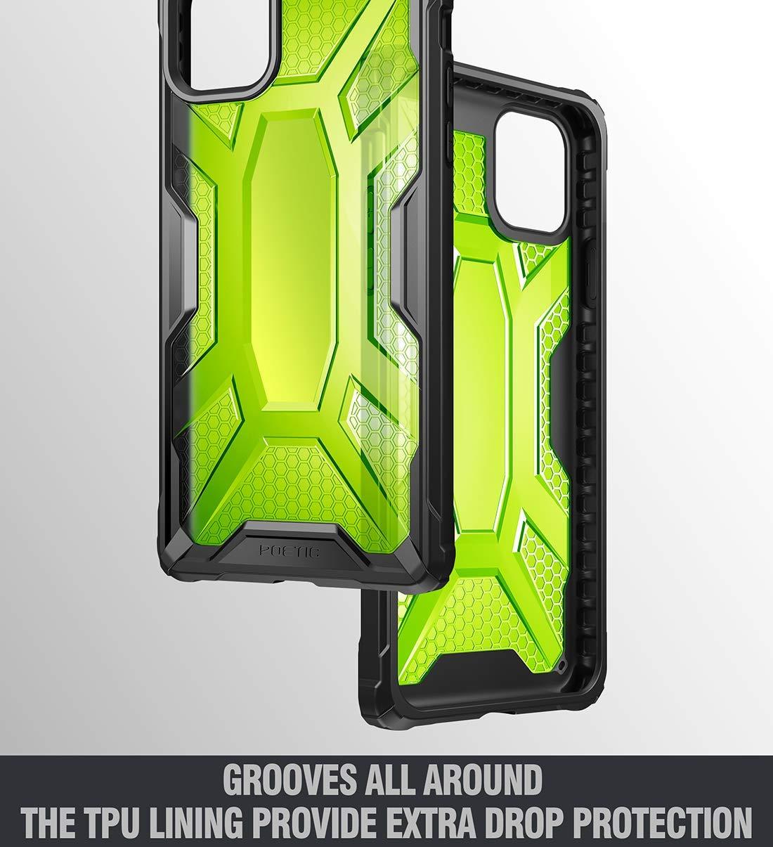Para Apple iPhone 7 poético protectora transparente TPU caso cubierta de parachoques afinidad Negro