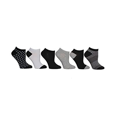 Betsey Johnson Women's Low Cut Socks, Black, White, Grey, 9-11 at Amazon Women's Clothing store