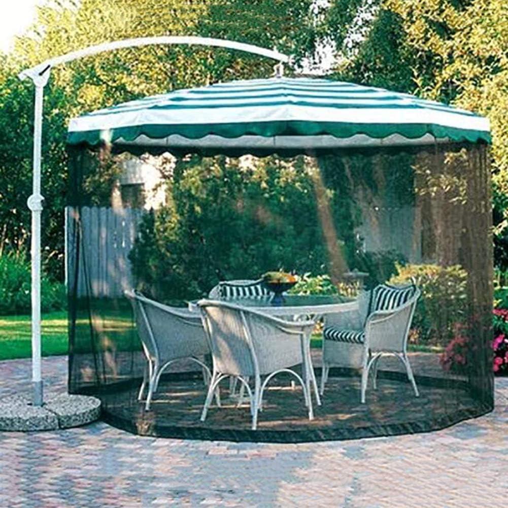 Mosquitera para sombrilla, Sombrilla Mosquitera Pantalla de mesa para sombrilla al aire libre, Pantalla de sombrilla para patio que acampa Sombrilla con carpas de red para mosquitos Malla de dose