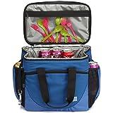 VASCHY Große Kühltasche, 30 Kanister 23 Liter Isolierte Kühlbox Auslaufsicheres Lunchpaket Multi-Taschen Picknick-Tasche für Reisen, Camping, Strand mit Bier Opener