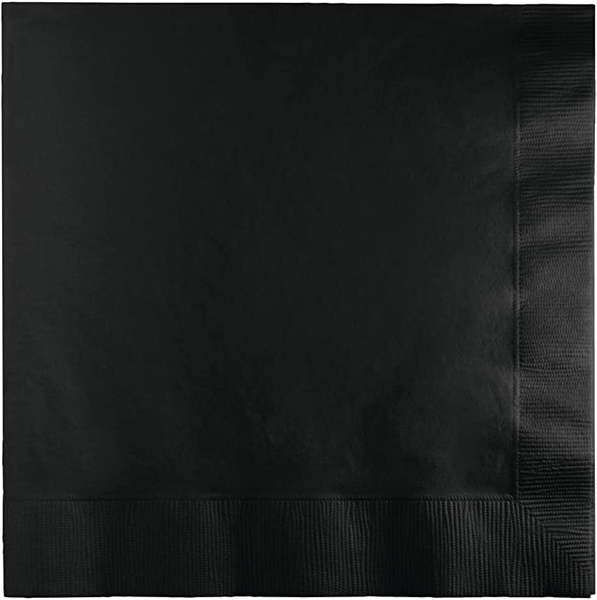 500-Count Touch of Color 3-Ply Paper Lunch Napkins, Black Velvet