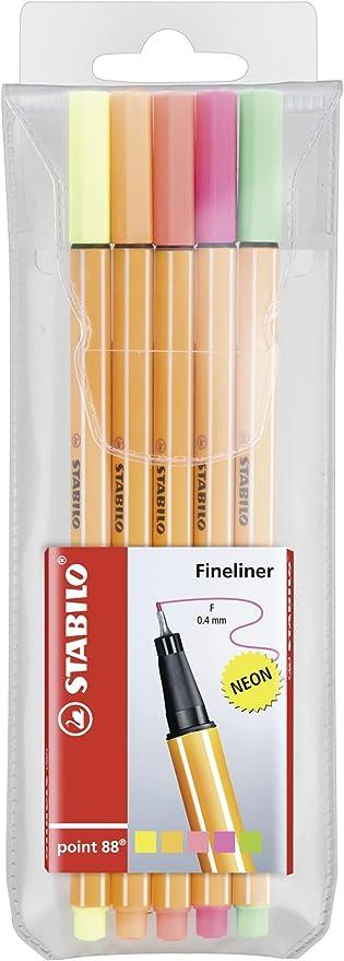 Stabilo 8805-1 - Estuche con 5 puntafinas: Amazon.es: Oficina y papelería