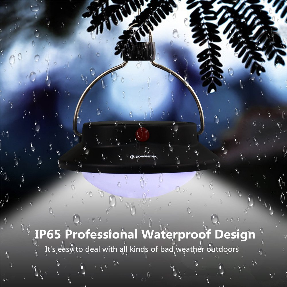 Zoweetek Solar Hanging Light for Tent, Camping, Hiking, Travel, Exploration and Home Yard, Supporting USB Charge