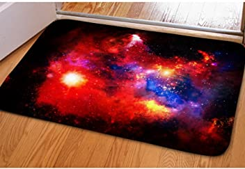 7753c82d7b6f Nopersonality Small Rug Colorful Galaxy Star Space Print Garage and Laundry  Room Doormat Floor Mat