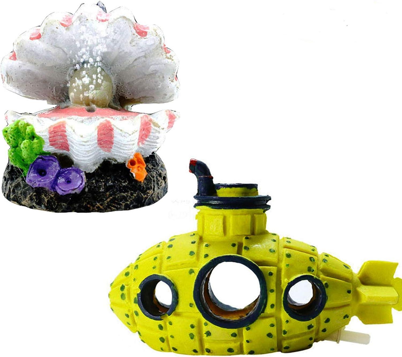 Tfwadmx AquariumBubblerDecorations Oxygen Pump Resin Crafts Fish Tank Hiding Cave Air BubblerStone Ornament 2 Pack