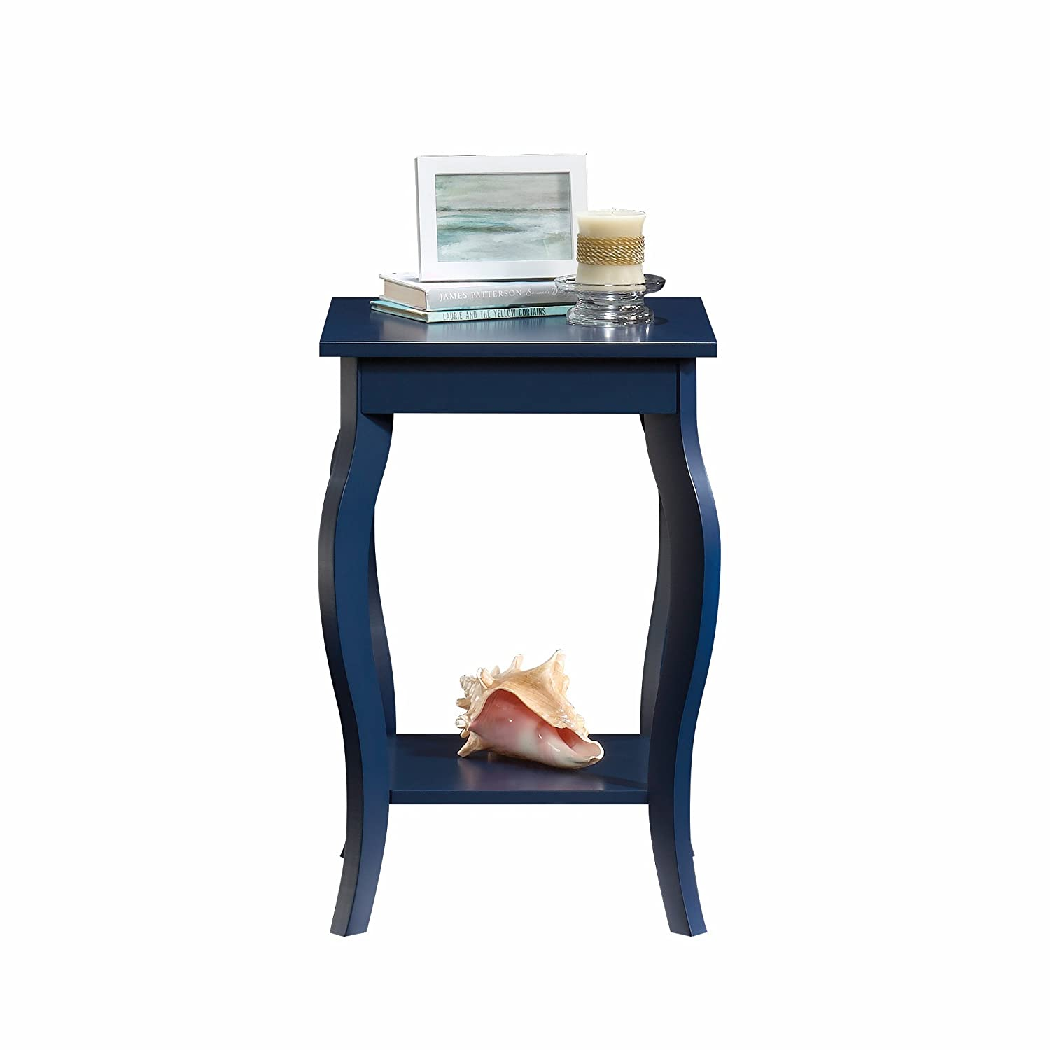 Sauder 420135 Harbor View Side Table, L 15.75 x W 15.75 x H 23.62 , Indigo Blue finish