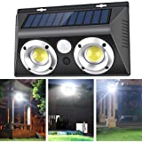 Neporal Outdoor-Wall-Lights-COB-20W Motion Sensor Outdoor Solar Lights with High Efficiency Lens IP65 Waterproof Security Lig