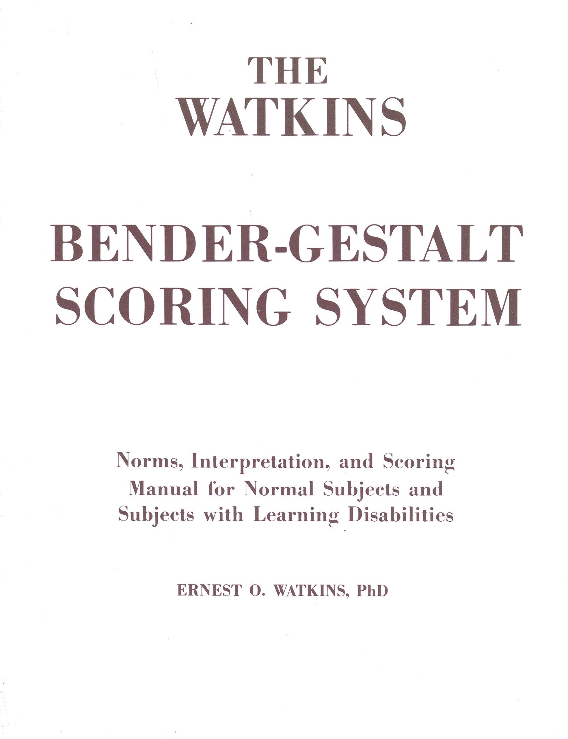 the watkins bender gestalt scoring system norms interpretation rh amazon com From Results Test Sample Benders-Gestalt Bender-Gestalt Drawings