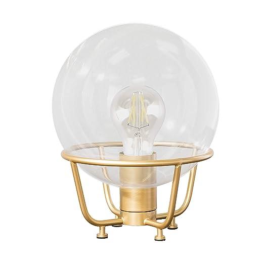 Amazon.com: Lámpara de mesa de cristal soplado a mano con ...
