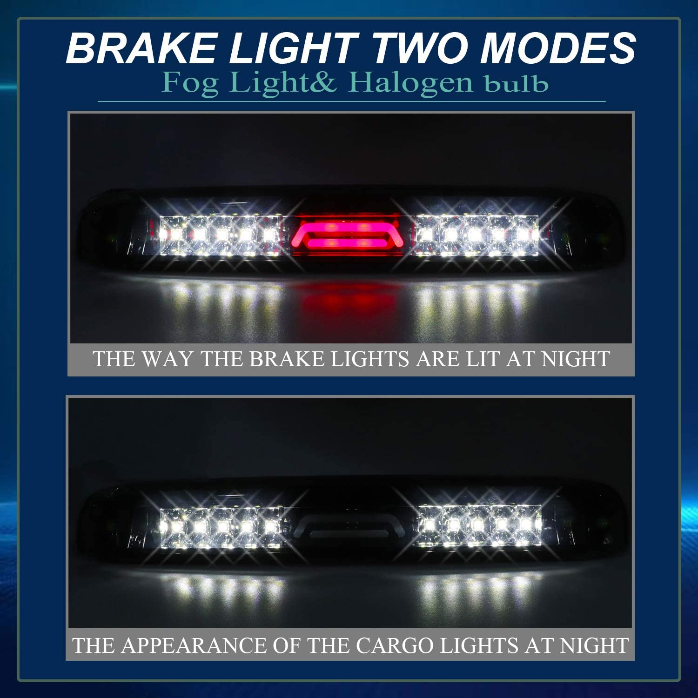 Youxmoto High Mount Stop Light LED 3rd Brake Light Tail Lamp for 99-06 Chevrolet Silverado//GMC Sierra 1500-3500 01-06 Chevrolet Silverado//GMC Sierra 1500-3500 HD Smoke Lens