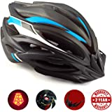 Basecamp Bike Helmet, Cycling Helmet with CPSC Safety Certified/LED Safety Light/Removable Visor/Flow Vents-Safety and Comfortable for Adult Men/Women/Youth for Mountain& Road