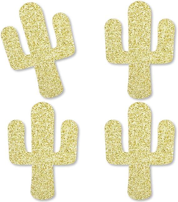 Cactus Green Glitter Large Die Cut Confetti