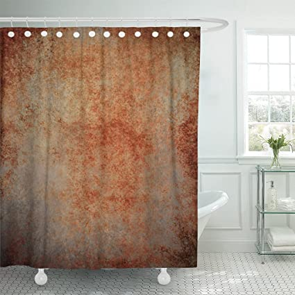 Image Unavailable Not Available For Color TOMPOP Shower Curtain Abstract Brown Rust