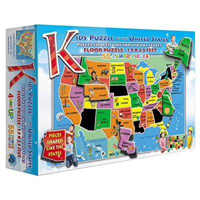 Kids\' Puzzle of the USA (55 Piece): Toys & Games [5Bkhe0702409]