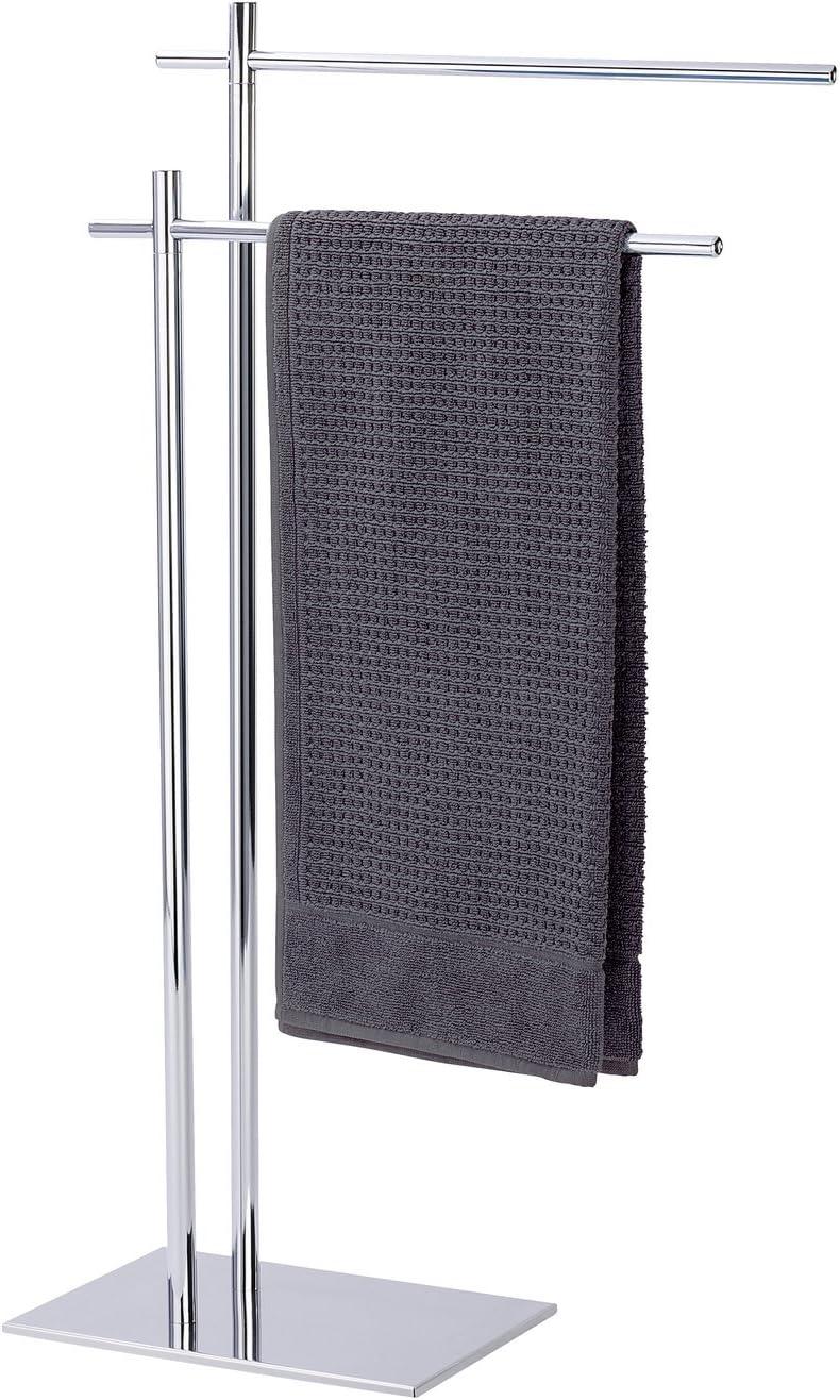WENKO Handtuchständer Kyoto Kleiderständer Stahl 49 x 84 x 20 cm Chrom