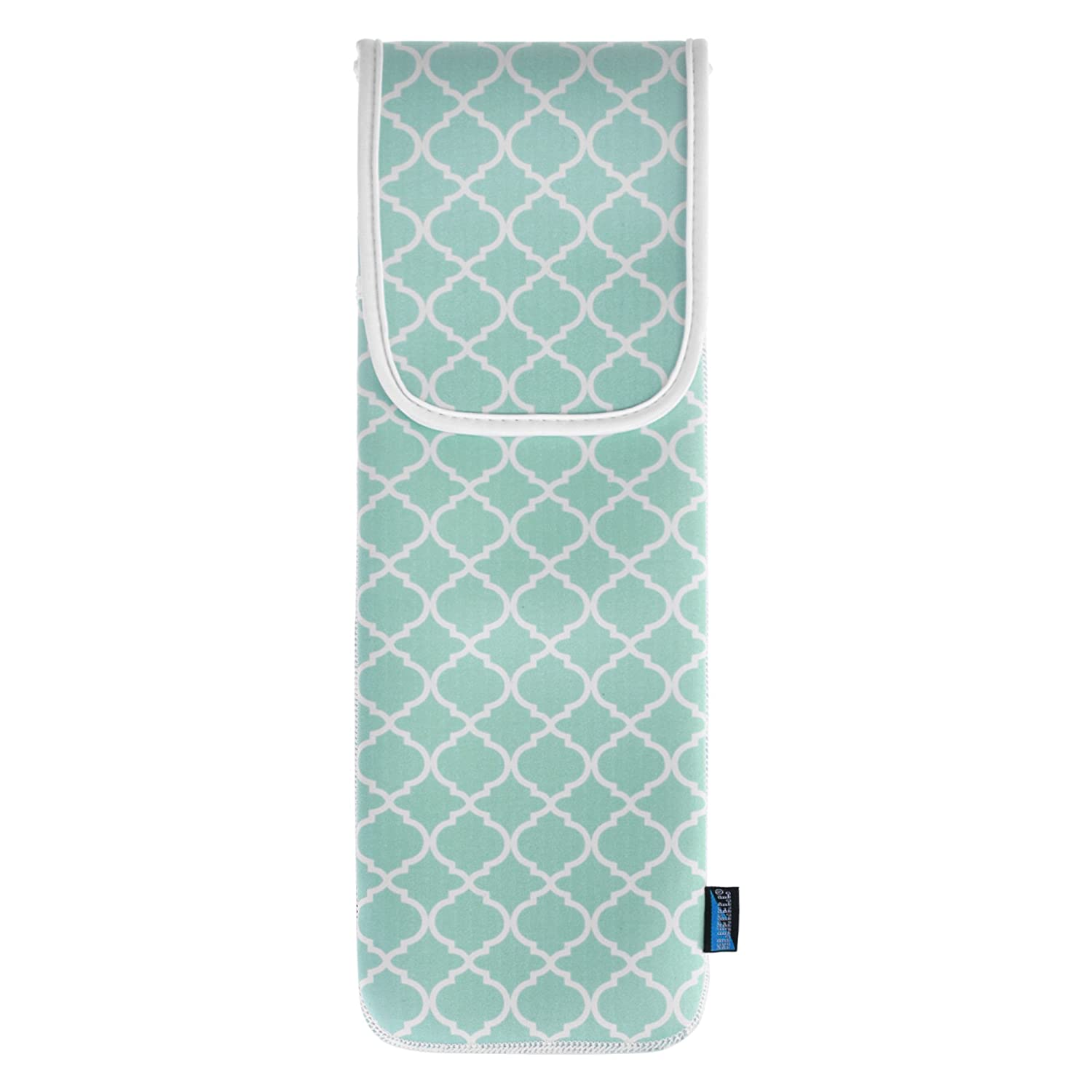 Bluecell Water-resistant Neoprene Curling Iron Holder Flat Iron Curling Wand Travel Cover Case Bag Pouch 15 x 5 Inches Aqua Blue