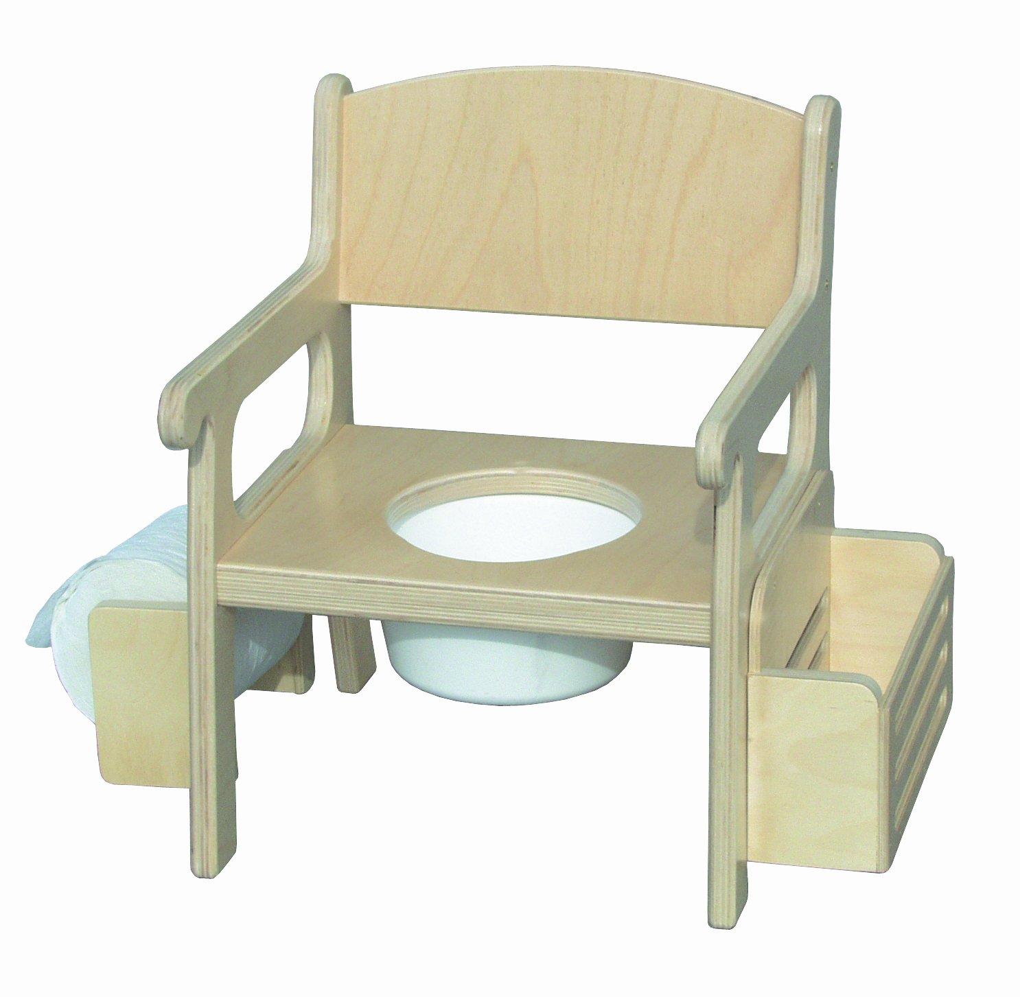 Little Colorado 028UNF Unfinished Potty Chair with Accessories