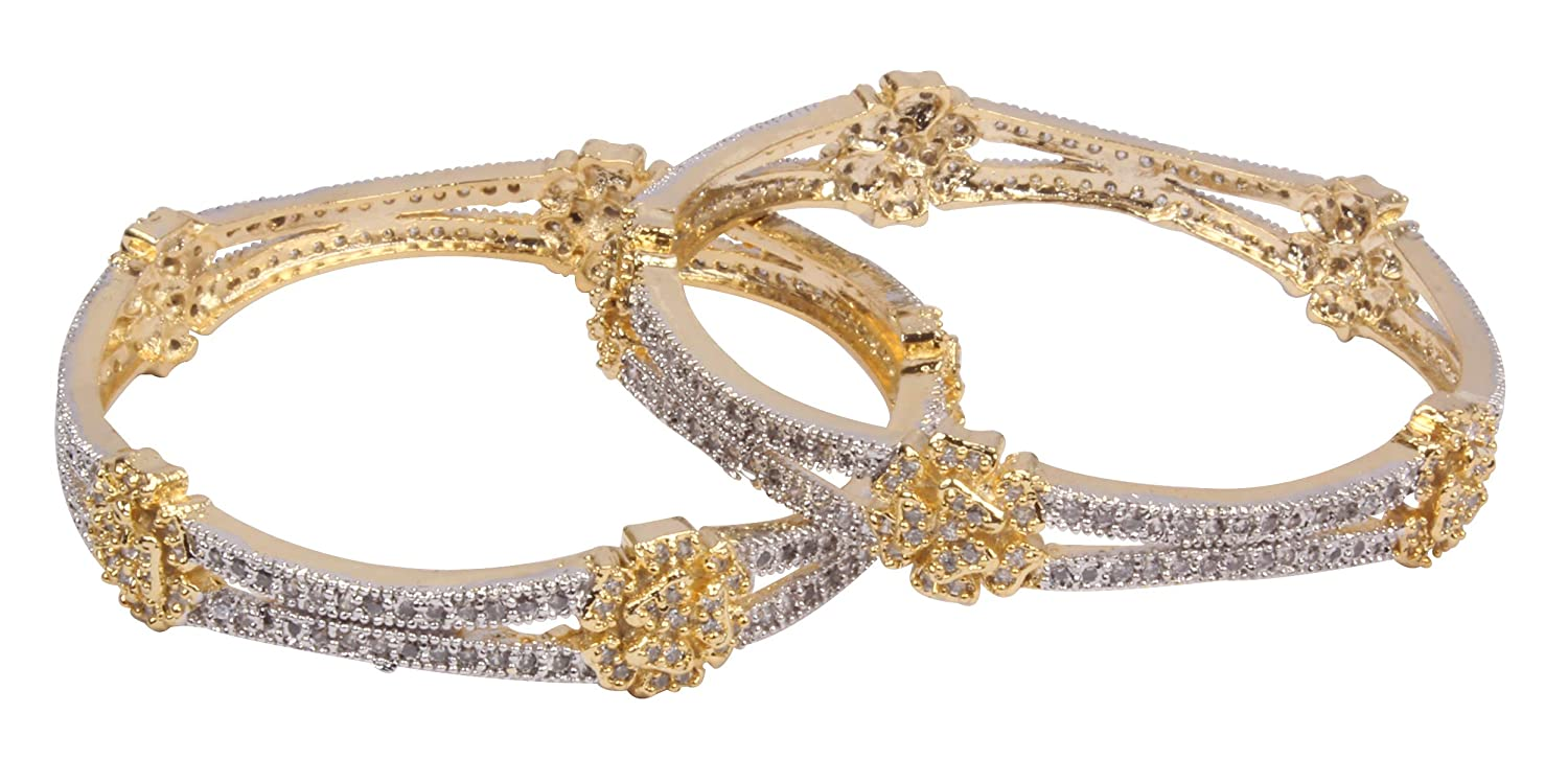 Shiv/_Collection Gorgeous Gold Plated Indian Bangle Traditional Bollywood Fashion Jewellery