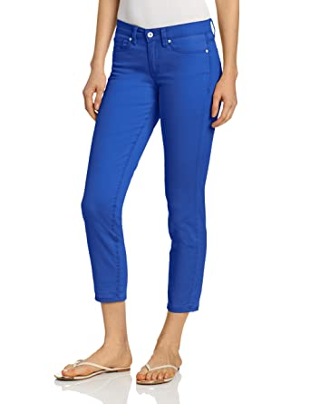 Calvin Klein Jeans Women's Skinny Ankle Crop, Ultra Blue, 8 at Amazon  Women's Jeans store