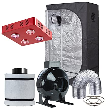 Hydro Plus Grow Tent Setup Complete Kit LED 800W Grow Light + 4u0026quot; Fan Filter  sc 1 st  Amazon.com & Amazon.com : Hydro Plus Grow Tent Setup Complete Kit LED 800W Grow ...