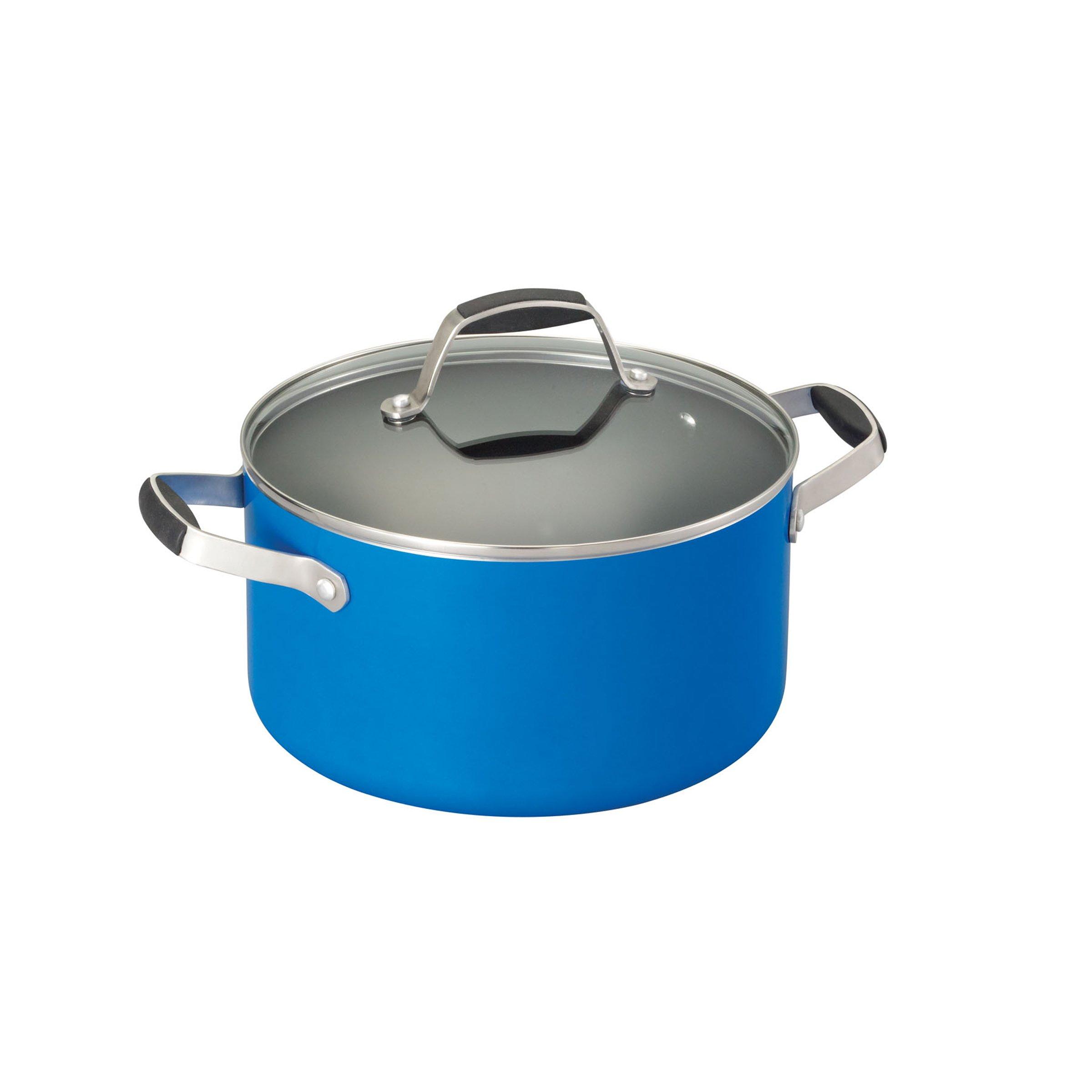 Guy Fieri Nonstick Aluminum 5.25-Quart Dutch Oven, Blue