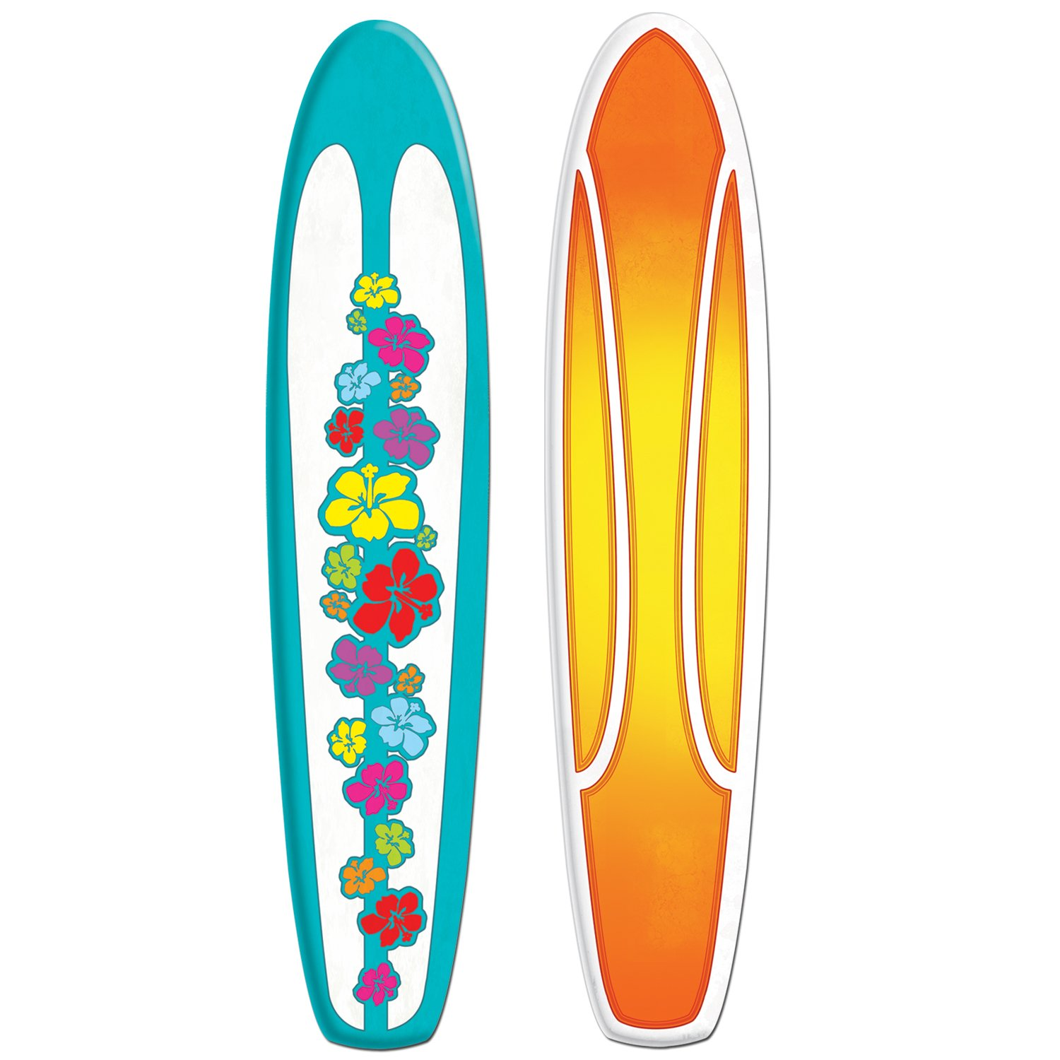 Beistle S50258AZ2, 2 Piece Jointed Surfboards, 5' by Beistle