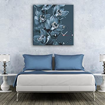 Amazon.de: BAJIAN-LI Grau Blau Blumen Verziert Bell ...