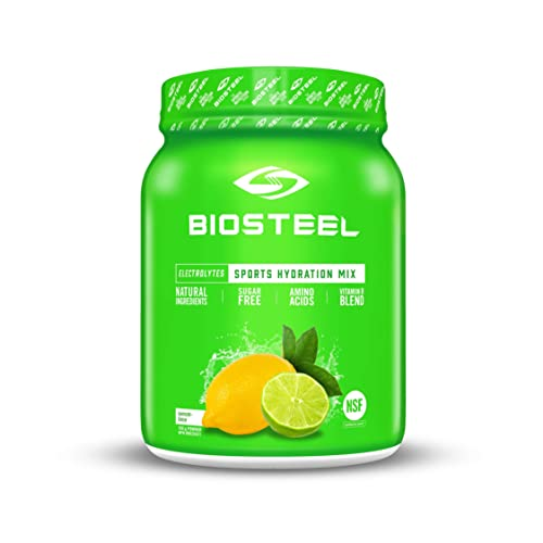 BioSteel High Performance Sports Hydration – Sugar Free Drink Mix, Lemon Lime, 100 Servings