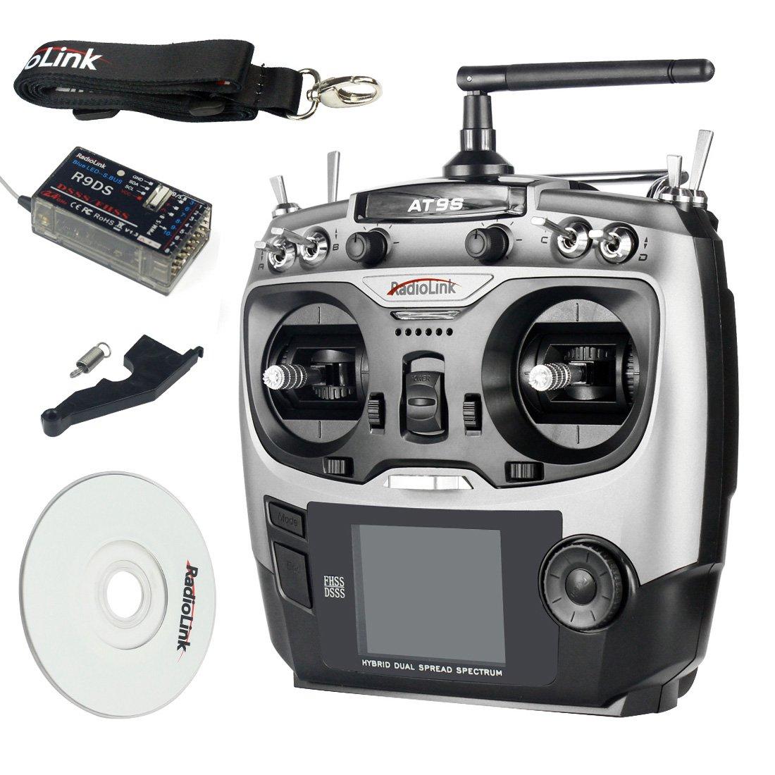 BGNing RadioLink AT9S 2.4 GHz 10CH AT9 mit Upgrade Sender mit AT9 R9DS DSSSS FHSS Empfänger Fernbedienung für RC Quadcopter Helikopter 8f4a95