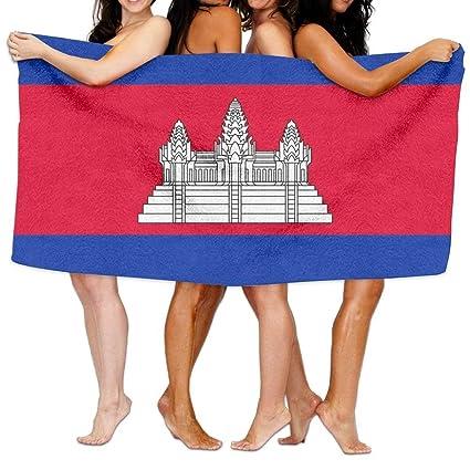 MALY Home Hotel - Toalla de Baño, Diseño de la Bandera de Camboya Duradera,
