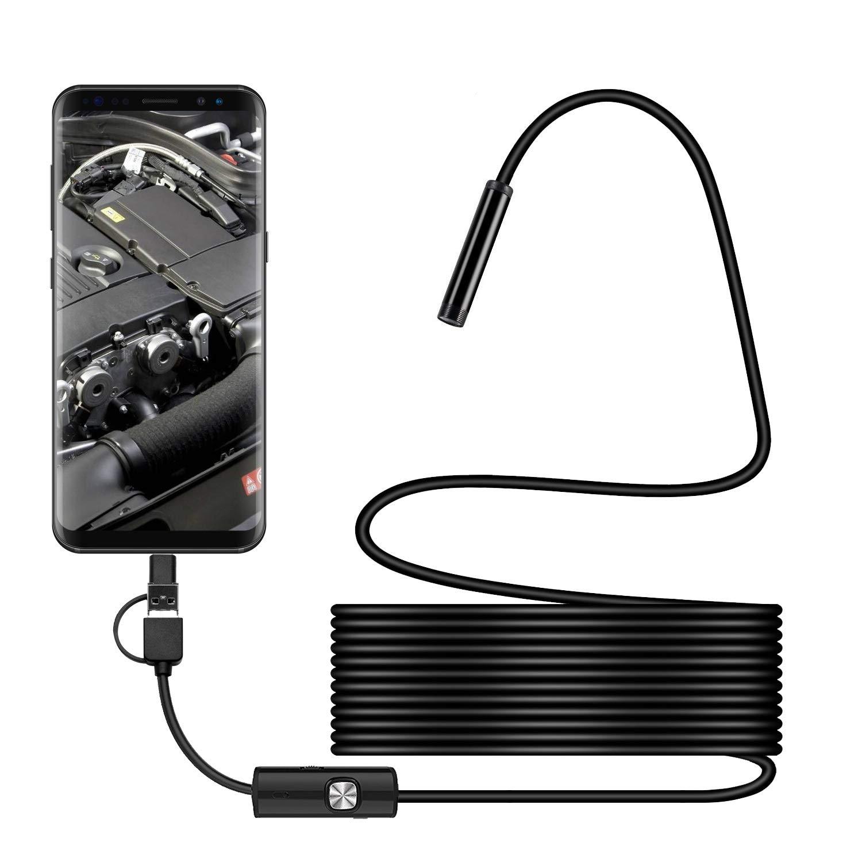 DMDMJY USB Endoscopio Compatible con Android, 7Mm HD Semi-RíGido Serpiente De CáMara MultifuncióN CáMara De Serpiente InspeccióN del Hogar, para Inspeccionar Motor Motor TuberíA De Alcantarillado VehíCulo,1.5M 3cddfb