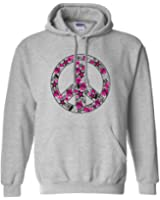 Sports Katz Womens 'Peace Out' CHEER Hoodie