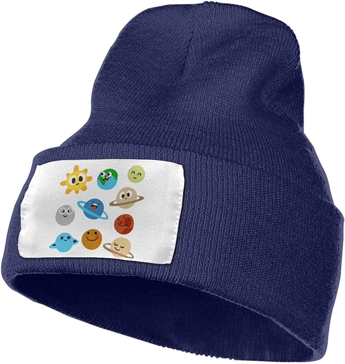 TAOMAP89 Cute Solar System Men /& Women Skull Caps Winter Warm Stretchy Knit Beanie Hats