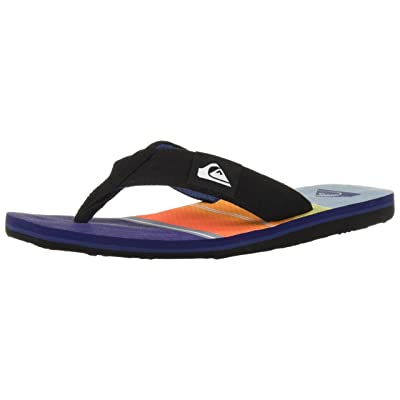 Quiksilver Men's Molokai Layback Sandal, Black/Orange/Blue, 14 M US: Shoes