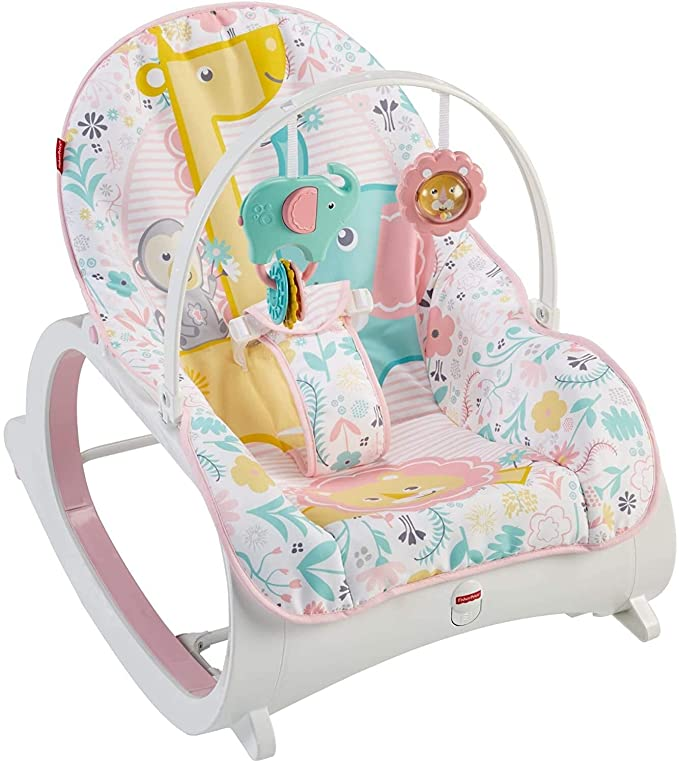 Electric Baby Rocker Chair Toddler Cradle Bouncer Recliner Infant Cradle Chair Seat with Toy and Smoothing Music Vibration Gift for Newborn Baby Bluetooth Remote Control