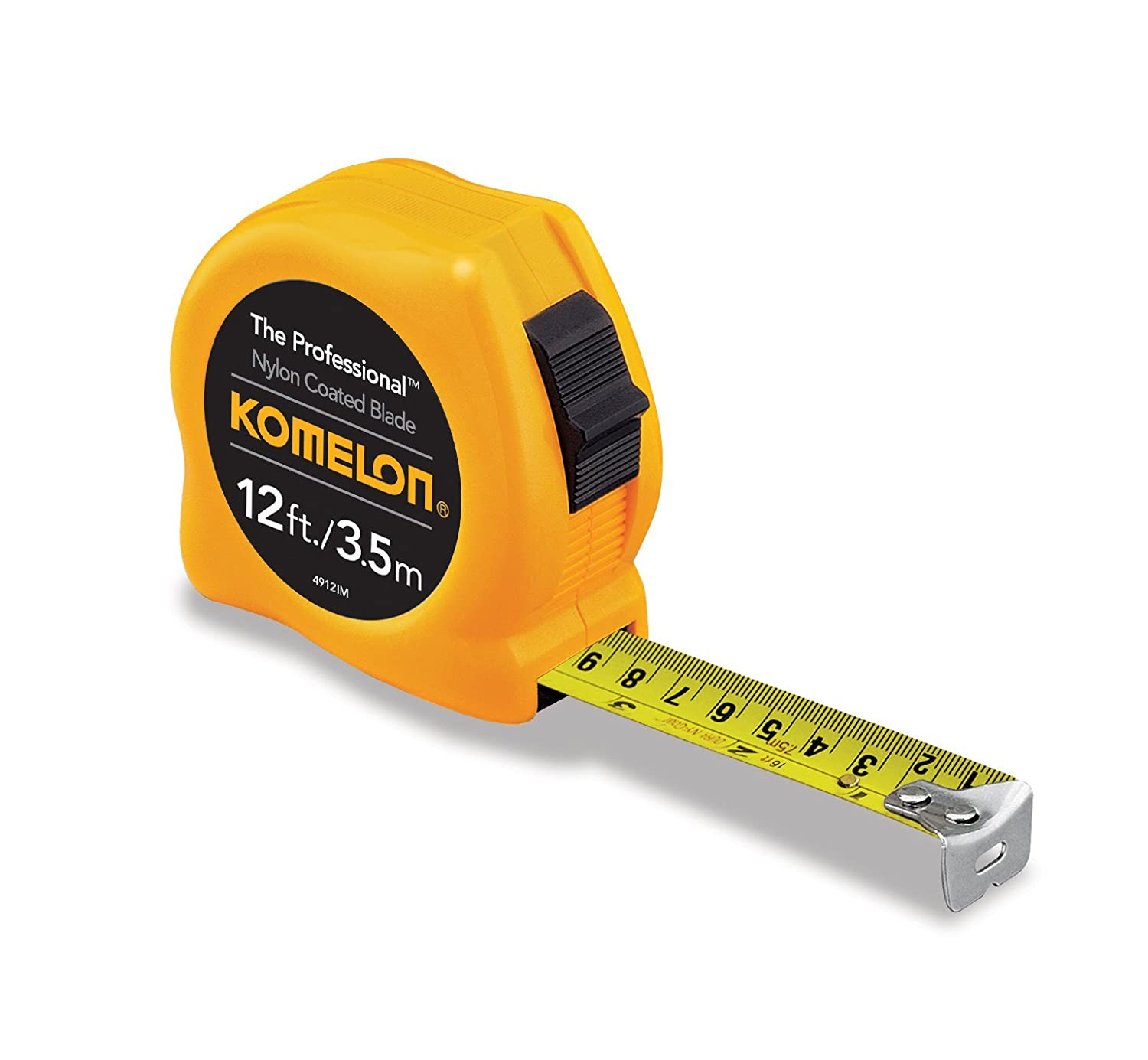 Komelon 4916IM The Professional 16-Foot Inch/Metric Scale Power Tape, Yellow