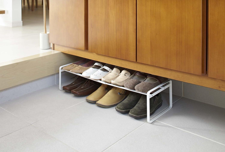 White YAMAZAKI home Frame Adjustable Shoe Rack