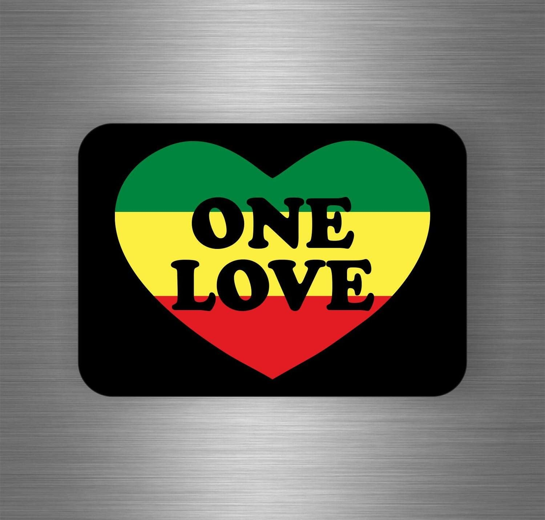 Akachafactory Selbstklebend Sticker Auto Rasta Jah Reggae One Love Löwe Jamaikanische Flagge Ref8 Motorrad