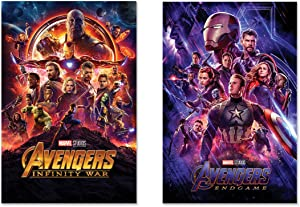 Avengers: Infinity War & Endgame - 2 Piece Marvel Movie Poster Set (Regular Styles) (Size: 24 x 36 inches Each)