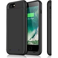iPhone 7 Battery Case & iPhone 8 Battery Case| iPosible 4500mAh Ultra Slim Extended Battery Backup Case Charger Pack Power Bank for iPhone 7 8 (4.7inch)-Black