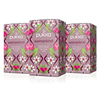 Pukka Womankind, Organic Herbal Tea with Shatavari, Cranberry & Rose Flower (3 Pack...